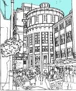 Croydon Old Town. Surrey Street Market