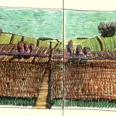 Imaginary view in Hockney style