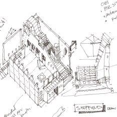Original study for Millennium Visitor centre. London