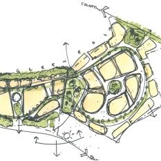 Original sketch for Spofforth Garden Suburb. Wetherby
