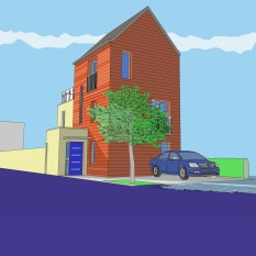 Low Carbon House. West Gorton
