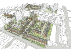 New residential quarter. Flint Town Centre.